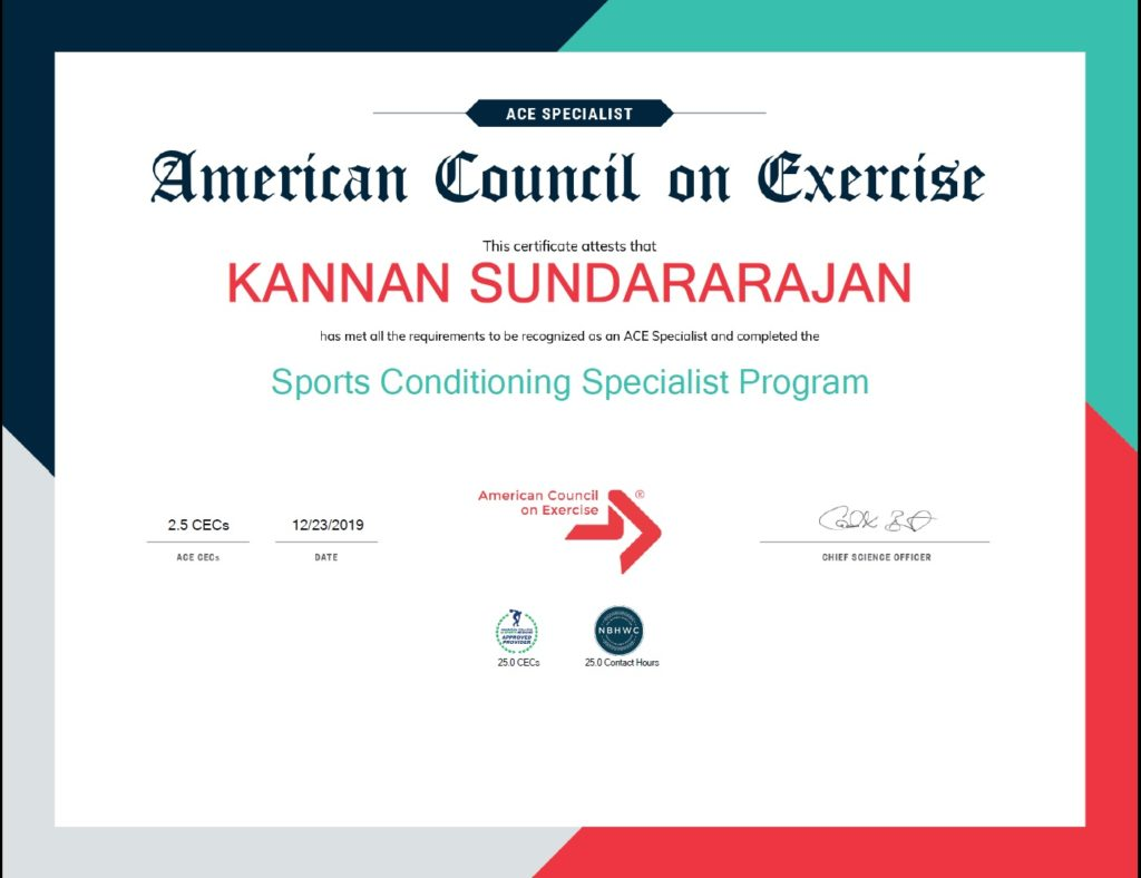 Coach Kay sports conditioning specialis